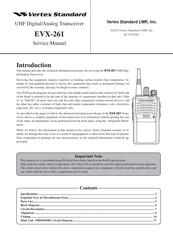 vertex standard evx 534 manual