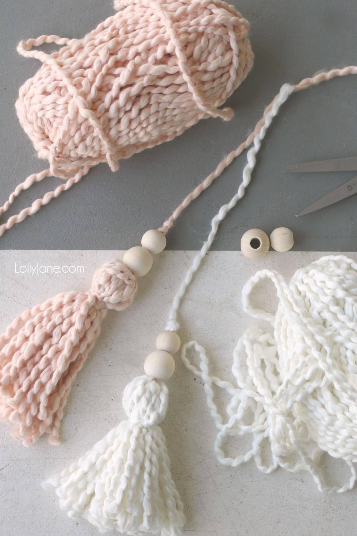 Yarn tassels how to make